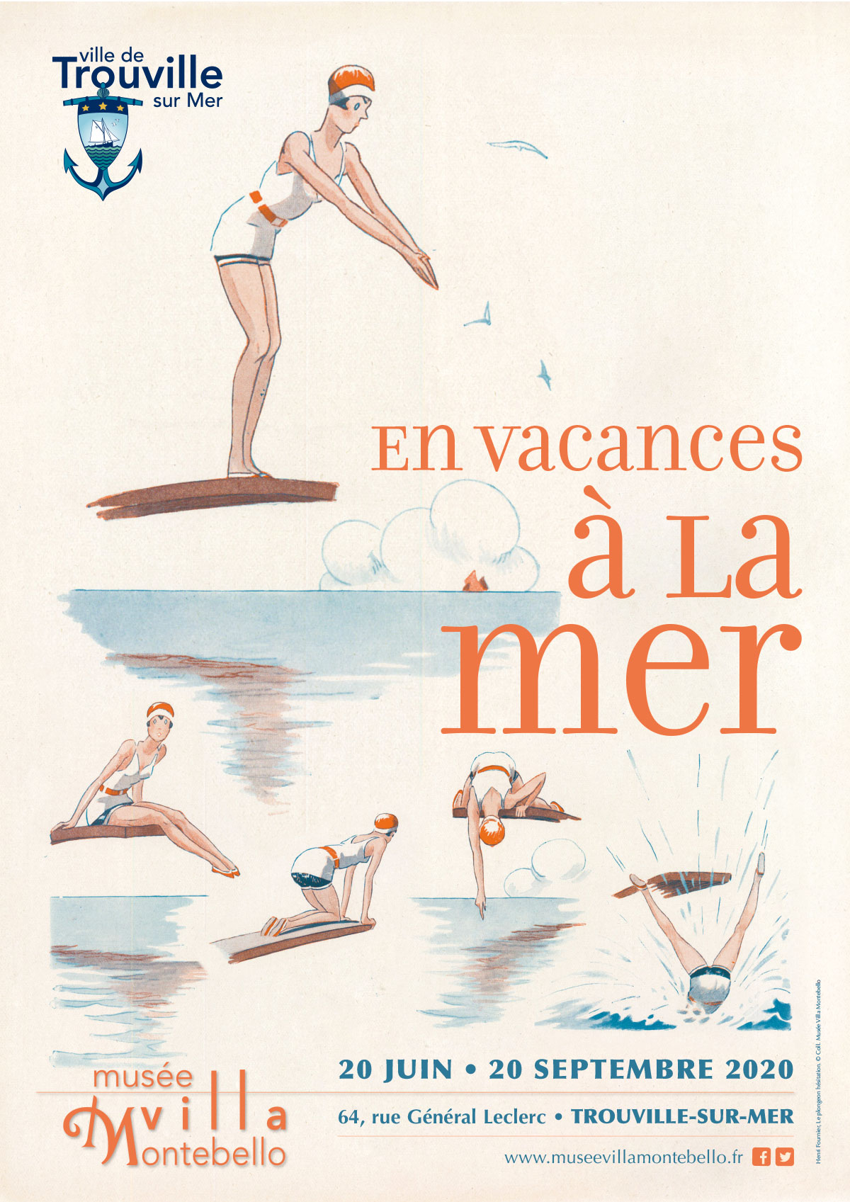"Henri Fournier, ""Le plongeon hésitation"" © Collection Musée Villa Montebello"